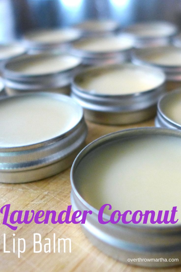 Easy DIY Lavender and Coconut lip Balm. Tasty, soft and smooth