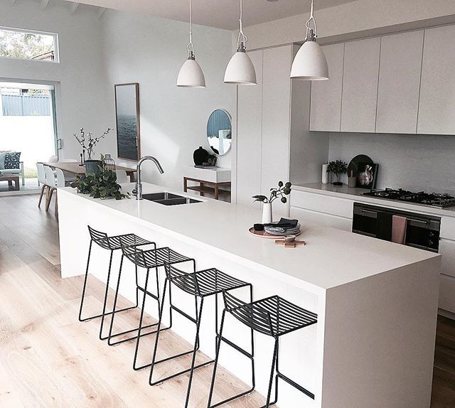 This kitchen perfectly styled by @thehiredhome