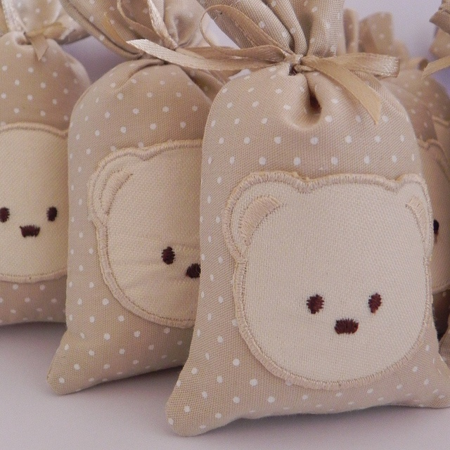 Beyond cute teddy bear favor bags