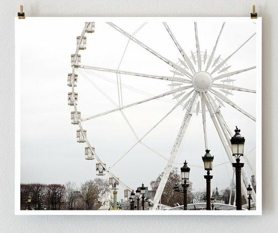 Nice Picture france-france-france: French Art, White Decoration, Paris Ferris, Paris Photography, Art Prints, Paris Prints, Place, Ferris Wheels, White Wall