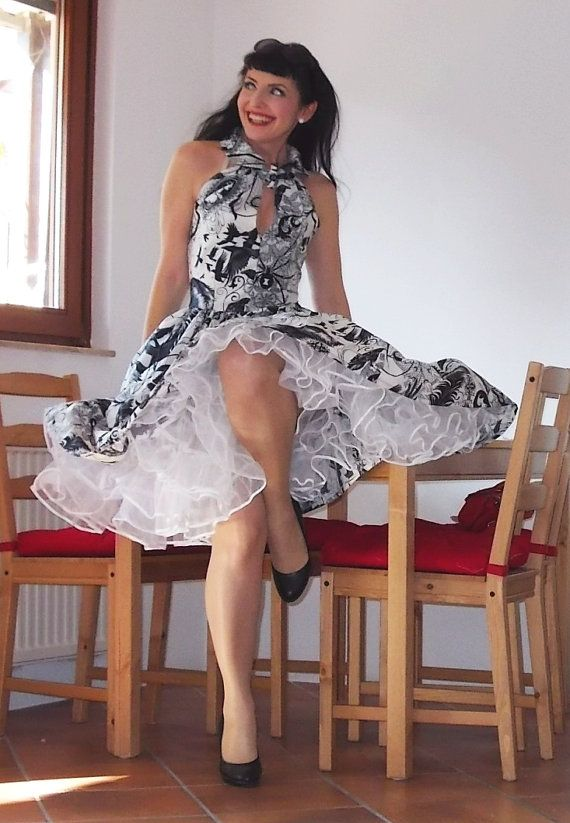 Pinup Dress Hitchike Dress Nightride Edgy By