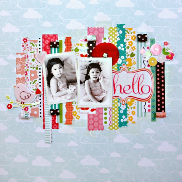 LG's Scrapbook World: inspiration for layout with lots of washi.