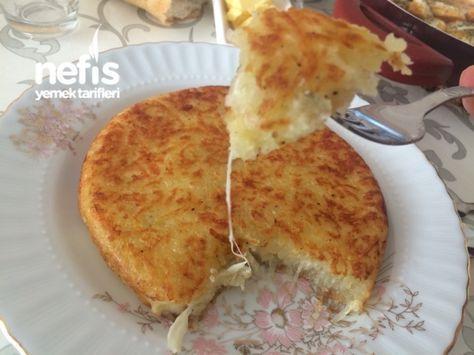 Kaşarlı Patates Rendesi - Cheesy pan hash potato