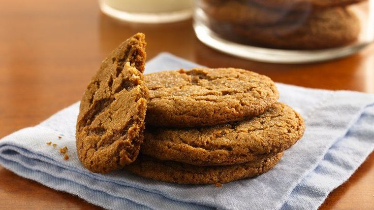 Thick, chewy cookies with crackled sugary tops.  Perfect for an after-school snack with cold milk.