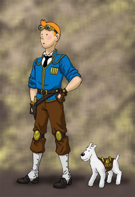 Steampunk Tintin by *JesIdres on deviantART