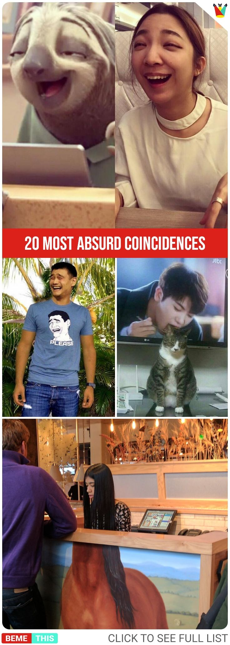 20 Most Absurd Coincidences