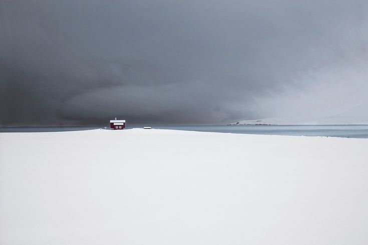 The Red House by Christophe Jacrot photography | Snjór (snow) Series