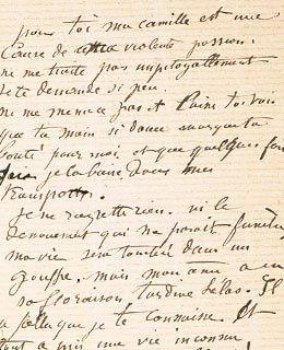 Lettre d'Auguste Rodin à Camille Claudel Love letter