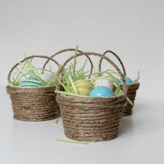 Mini-Osterkorb Gefälligkeiten, werken haushaltsHandWerk, füllen sie mit essbaren Gras und gemälzter Eier zum süßen Leckereien