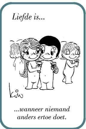 Liefde is...wanneer niemand anders ertoe doet.