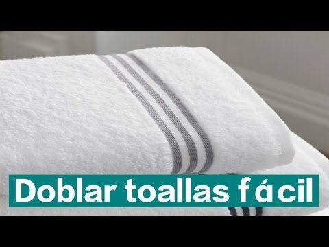 Cómo doblar toallas para ahorrar espacio. Método Konmari  La magia del orden - YouTube