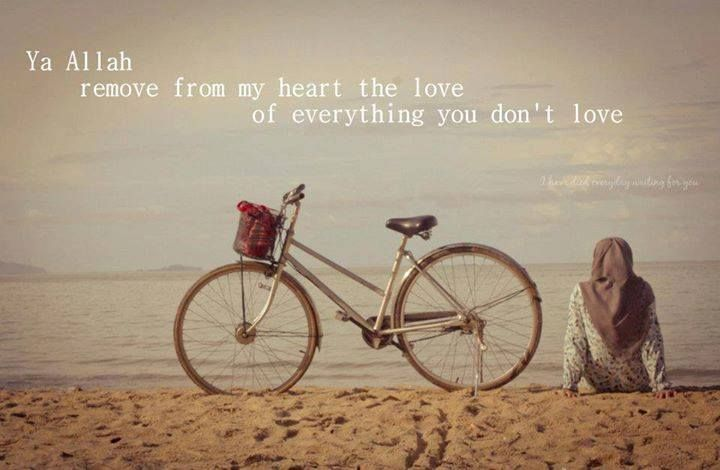 Ya ALLAH, please remove from our hearts, the love of everything you don't love. Amin.