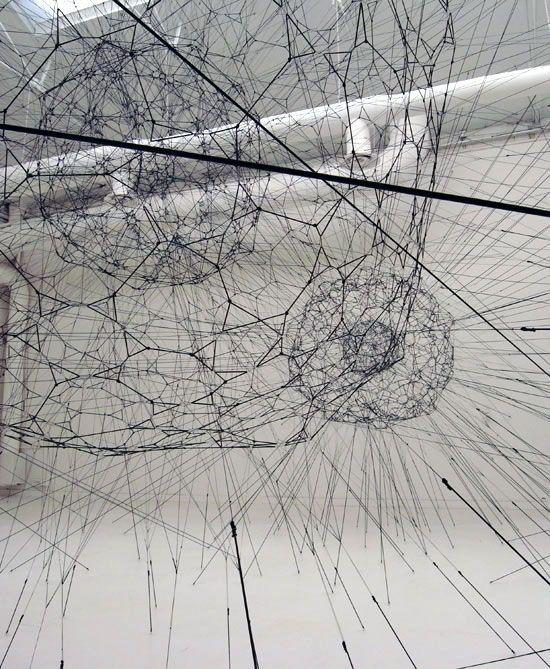 """galaxies forming along filaments, like droplets along the strands of a spider's web"" - Tomas Saraceno - stunning"