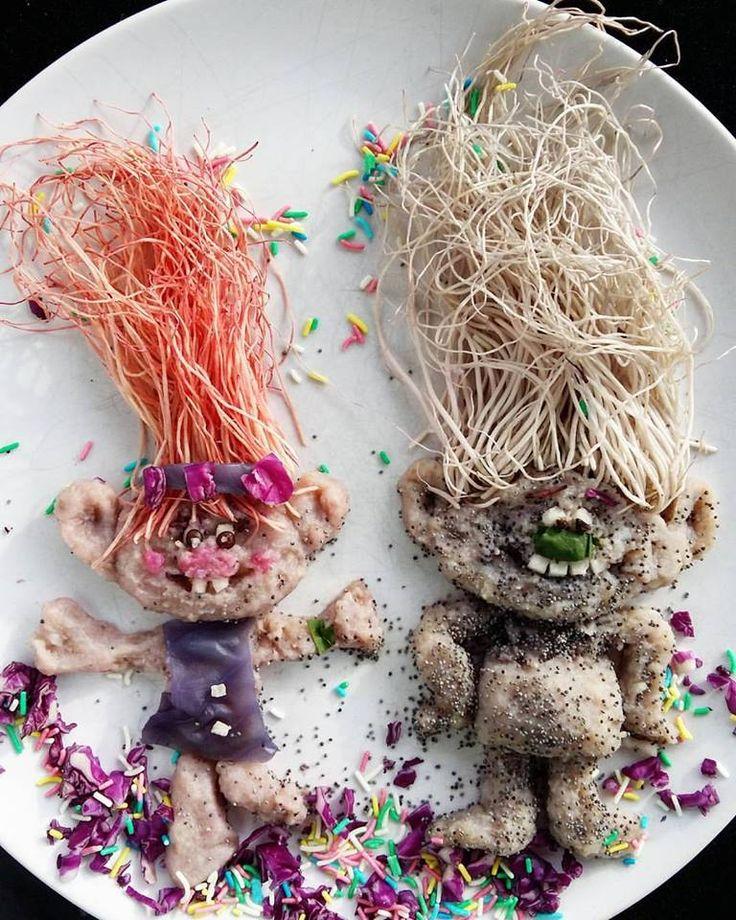 #trolls #party #kids #cute #cutefood #foodart # food #art #mashedpotatoes #donkeyandthecarrot