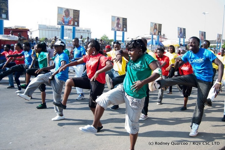 In Motion: Launching Google Trader in Ghana #Africa #FlashMob #Flash #Mob