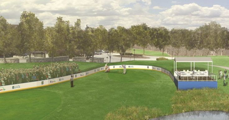 """The RBC Canadian Open aims to combine golf and hockey on the 7th hole at Glen Abbey in July. """"The Rink"""" will encircle the 7th hole with hockey boards and bleachers–and include a Zamboni. Volunteer marshals will wear referee uniforms. Tournament Director Brent McLaughlin said that they hoped to..."""