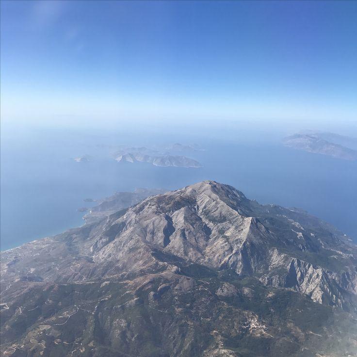 Somewhere over Greece