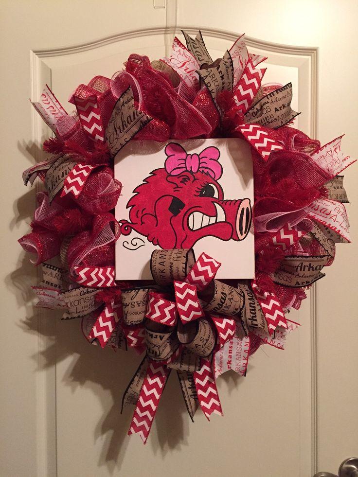 Razorback Wreath, University of Arkansas Wreath, Baby Wreath, Hog Wreath
