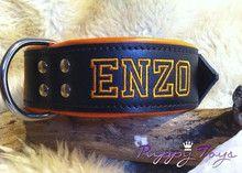 Halsband zwart leer 50 mm. met lamsleren voering -puppyToys.nl  http://www.puppytoys.nl/Halsband-zwart-leer-50-mm.-met-lamsleren-voering