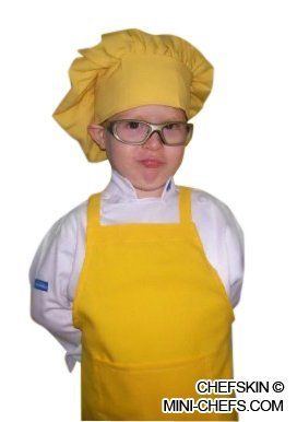 CHEFSKIN KIDS YELLOW MUSHROOM PUFFY CHEF HAT, ADJUSTABLE VELCRO, EXCELLENT PARTY FAVOR by CHEFSKIN. $3.99. BUY 1 OR 1000 WE ARE THE MANUFACTUES. BEAUTIFUL  FULLY ADJUSTABLE KIDS CHEF HAT MUSHROOM PUFFY YELLOW. EXCELLENT PARTY FAVOR, FOR SCHOOL PLAYS , HALLOWEEN, OR HELP MOM AT HOME. YOU CAN DECORATE, PAINT, MONOGRAM, EMBROIDER ANYTHING. FITS KIDS 2-15 NICE LIGHTWEIGHT POLYESTER FABRIC, REINFORCED, WILL LAST  MANY PARTIES. BEAUTIFUL  FULLY ADJUSTABLE KIDS CHEF ...