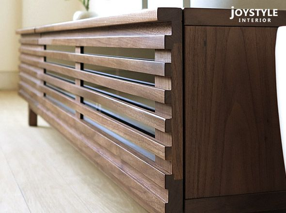 joystyle-interior | Rakuten Global Market: Cool TV board low board NEED-TV170 which is correct in lattice door wooden TV stand modern living of 2 size walnuts materials walnut pure materials of 150cm in width 170cm in width