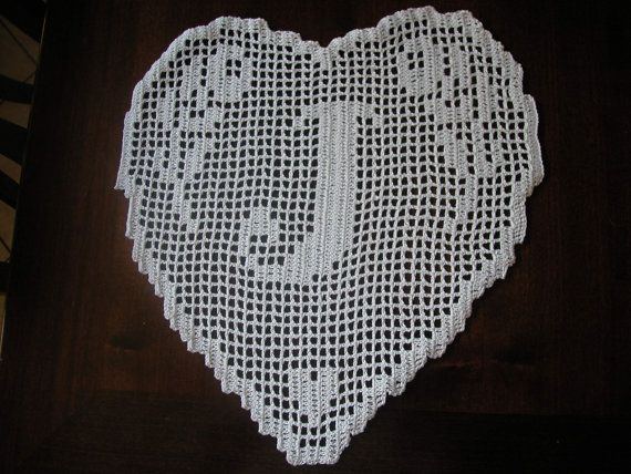 PATTERN crochet filet schema lettera J  di CreazioniFiopi su Etsy