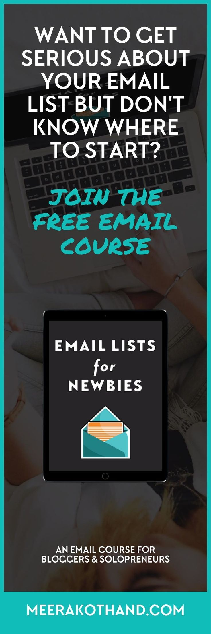 Are you sick to your stomach at the thought of sending emails to your list?   You want to get serious about email but you're not sure where to start? Email Lists for Newbies is a free email course for bloggers and solopreneurs to get started with email lists even if you have a tiny list or have not sent a single email. Click to get the first lesson today.