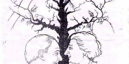 «Το δέντρο των εθνικών ηγετών»: Εσείς πόσα πρόσωπα μπορείτε να διακρίνετε