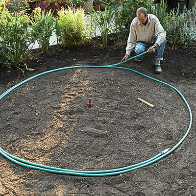 How to build your own circular patio. Pretty sure I won't attempt this on my own, but It's still interesting to see how the pros do it.