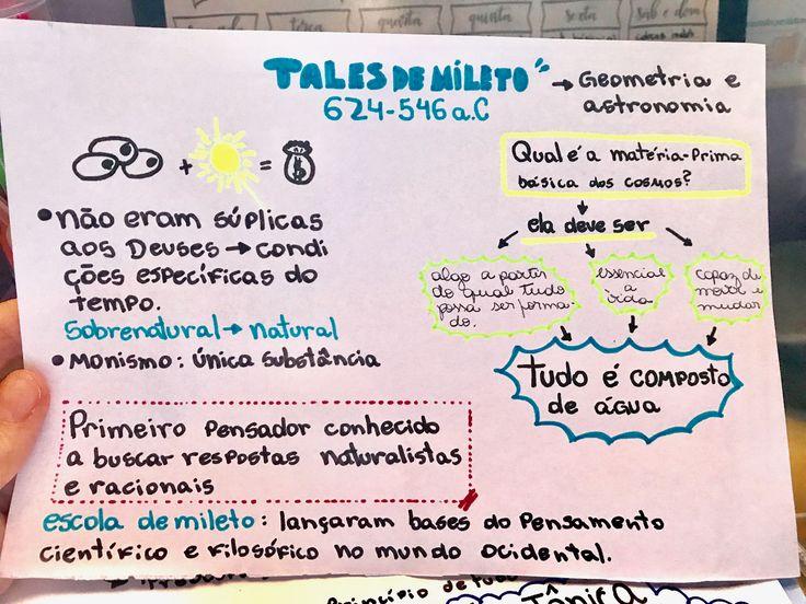 Pré-Socráticos resumo Tales de Mileto