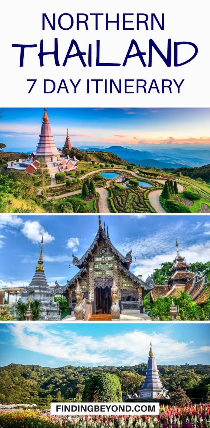 Wish to explore the best of Northern Thailand in one week? Check out our 7 day Northern #Thailand #itinerary for the best mountain town highlights. #thailandguide #thailandtips #thailanditinerary #bestofthailand #mustseeplacesinthailand | Where to go in Thailand | must see places in thailand | Places to visit in Northern Thailand | #northernthailand #thailandsattractions | #thailandtravel  | Northern Thailand Highlights #thingstodointhailand | Backpacking Thailand | Best of Northern Thailand