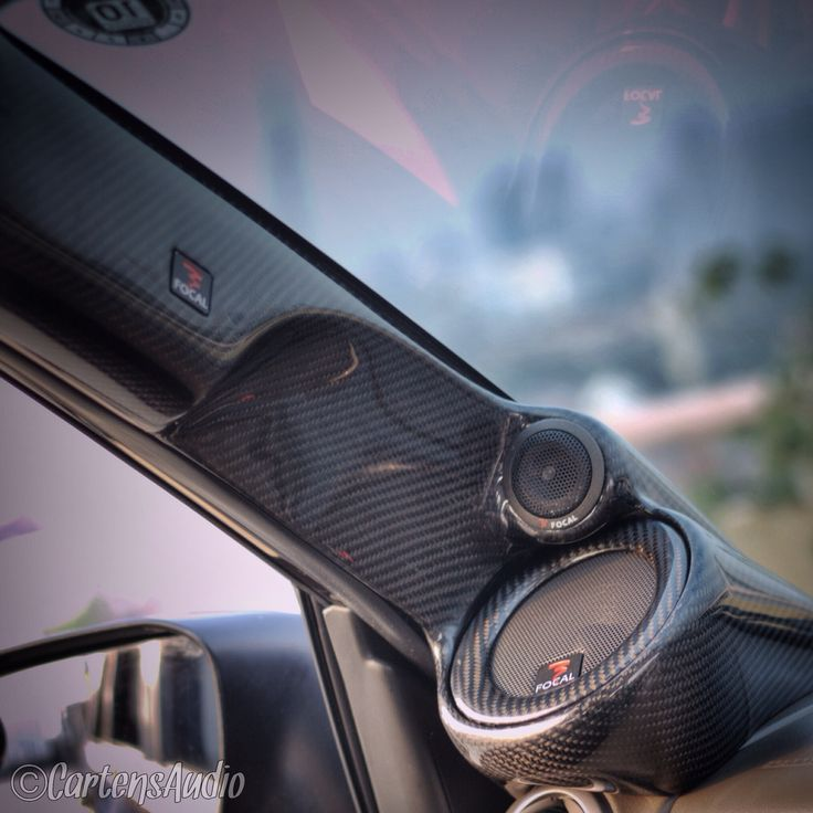 Full Carbon Finished for Custom A Pillars #Focal #AudioMobil Cartens® Autosound And Installation
