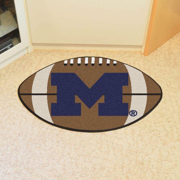 Michigan Wolverines Football Mat, Blue