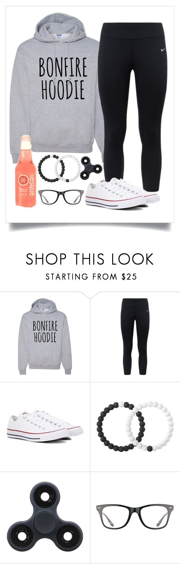 """""""Bonfire Outfit!"""" by bekah-04 ❤ liked on Polyvore featuring NIKE, Converse, Lokai and Ray-Ban"""