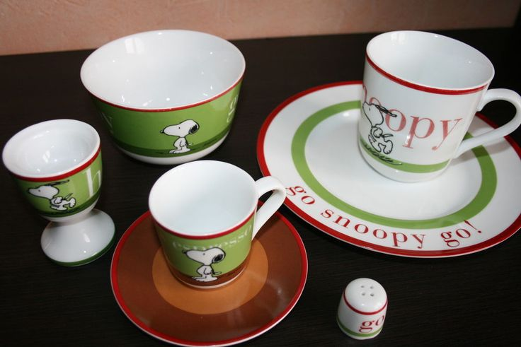 Best of Snoopy - Becher Espressotasse Müslischale Eierbecher Teller Geschirrset
