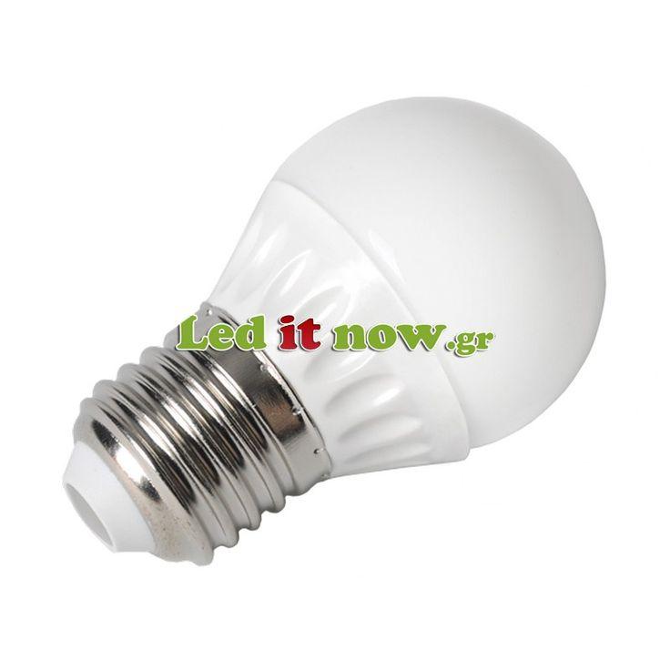 LED V-TAC Λάμπα Ε27 μπαλάκι 4W (P45) Ψυχρό Λευκό
