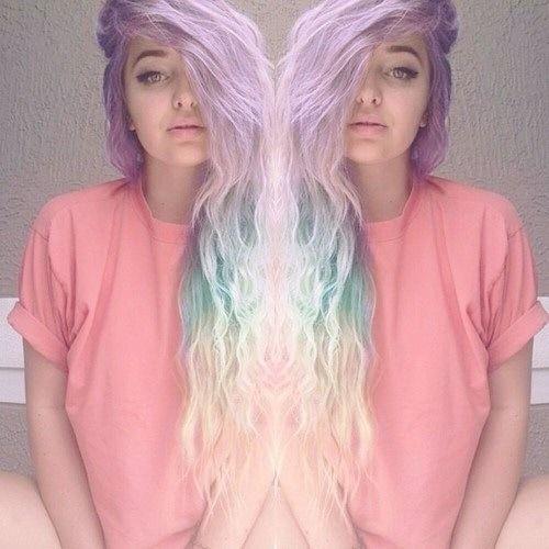 Purple lavender pastel dyed hair color