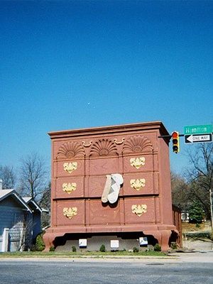 North Carolina, the furniture capitol of the world, World's Largest Dresser....This is located in High Point, NC