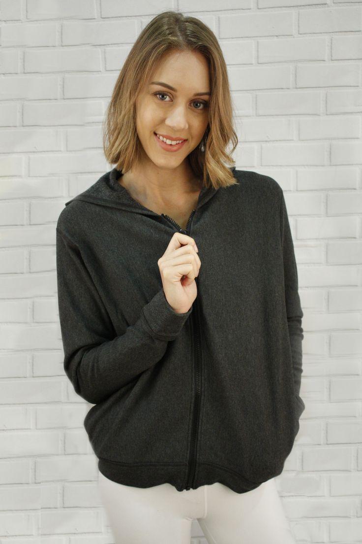 Delia Bamboo Fleece Jacket - batwings, comfy.