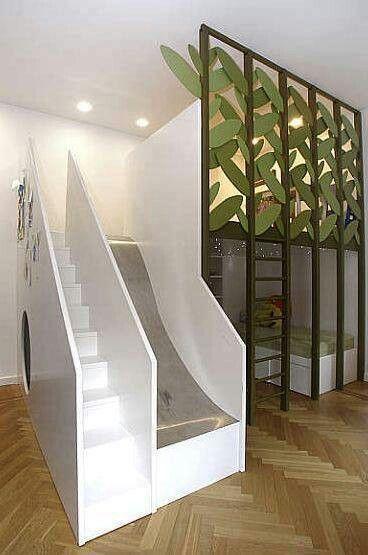 Loft Bed With Slide Older Kids Room Pinterest Sleep