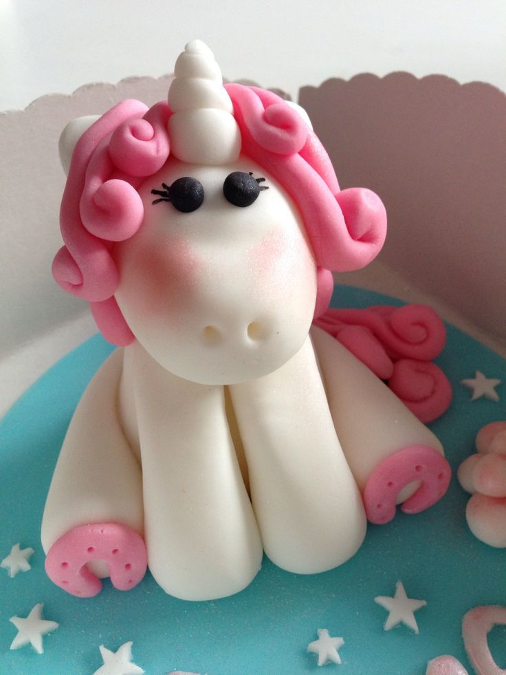 Little Unicorn Cake Topper Hearts Would Be Super Cute As