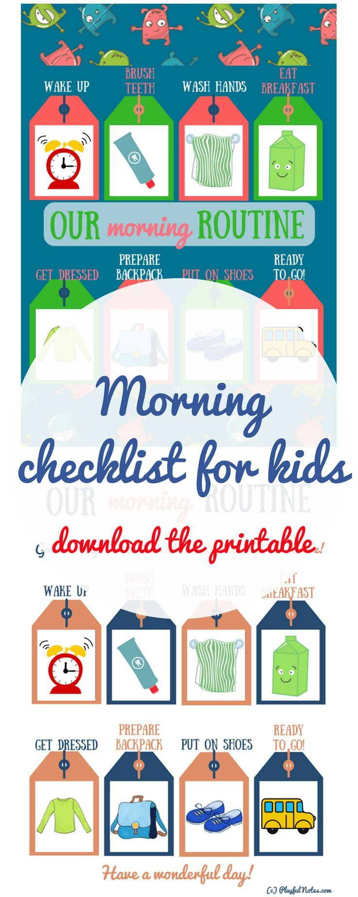 Morning Routine. #Checklist. #Printables. #NewRules