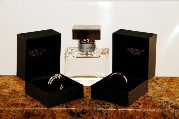 Wedding rings and perfume