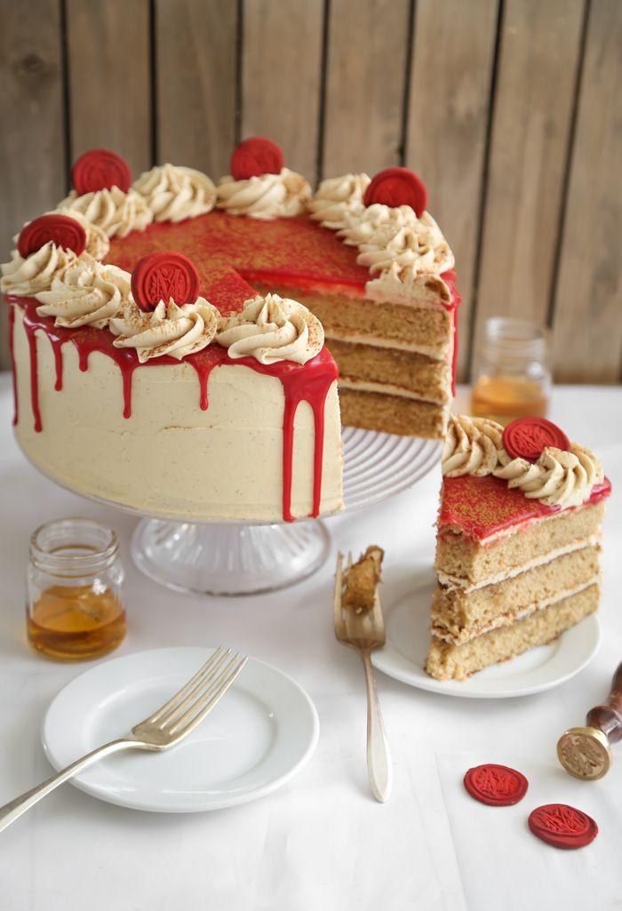 Bourbon Vanilla Layer Cake (a.k.a. Maker's Mark Cake)
