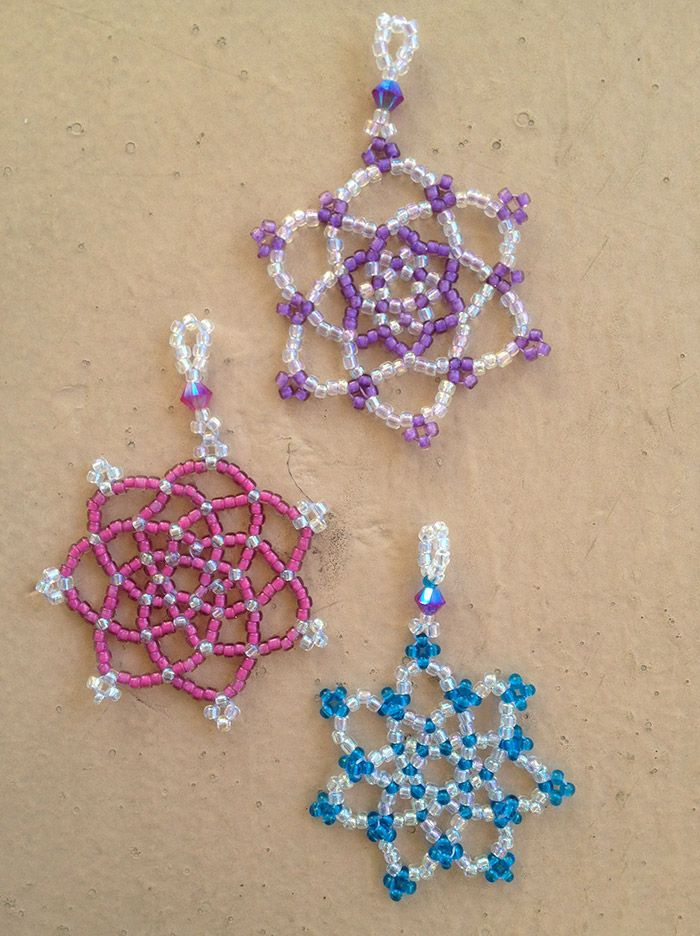 beaded snowflake patterns beaded snowflakes tutorials