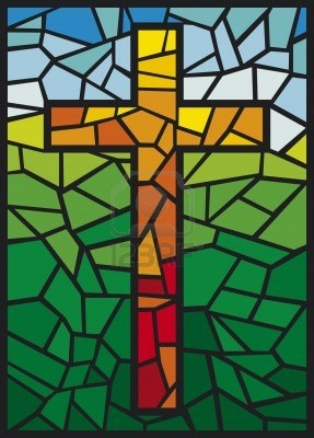 vector stained glass cross  cross in stained glass style  #TuscanyAgriturismoGiratola