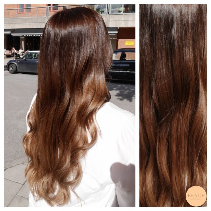Bronde sombre med chokladbrun botten Bronde sombre with chocolatebrown roots.