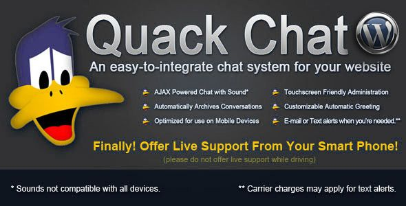 WP - Quack Chat Live Chat System