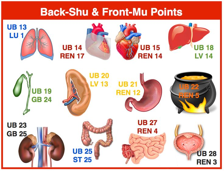 Back Shu and Front Mu Points in TCM