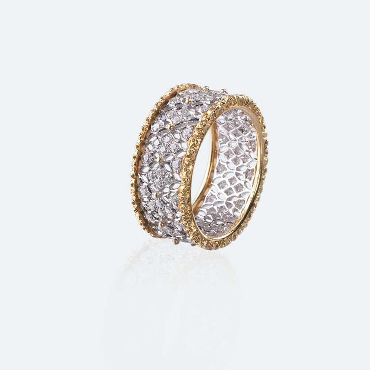 buccellati vietri with white and yellow gold with diamonds